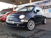 FIAT 500C 1.2 LOUNGE 2DR CONVERTIBLE STOP/START, A/C, petrol,