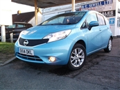 NISSAN NOTE 1.2  ACENTA PREMIUM (STYLE PACK) 5DR, A/C, petrol